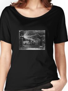 Nikola Tesla - Bolts Of Electricity Women's Relaxed Fit T-Shirt