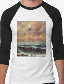 Gustave Courbet - Autumn Sea 1867 , Seascape Men's Baseball ¾ T-Shirt