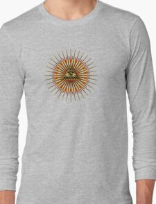 All Seeing Eye Of God, Flames - Symbol Omniscience Long Sleeve T-Shirt