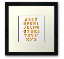 ABC O Pizza Framed Print