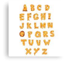ABC O Pizza Canvas Print