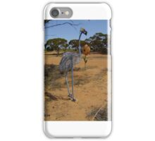 Emu Sculpture. iPhone Case/Skin