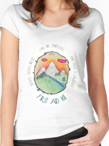 First Aid Kit - My Silver Lining Women's Fitted Scoop T-Shirt