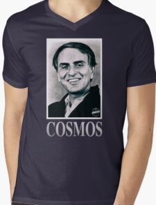 Cosmos Carl Sagan Mens V-Neck T-Shirt