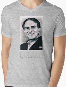 Cosmos Carl Sagan Mens V-Neck T-Shirt