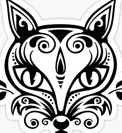 Fox Ornaments Sticker