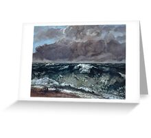 Gustave Courbet - The Wave 1867 - 1869, Seascape Greeting Card