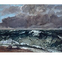 Gustave Courbet - The Wave 1867 - 1869, Seascape Photographic Print