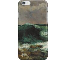 Gustave Courbet - The Wave 1869 iPhone Case/Skin