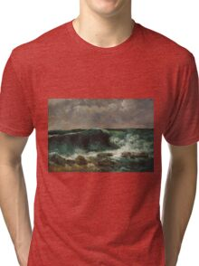 Gustave Courbet - The Wave 1869 Tri-blend T-Shirt