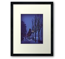 Snowing night Framed Print