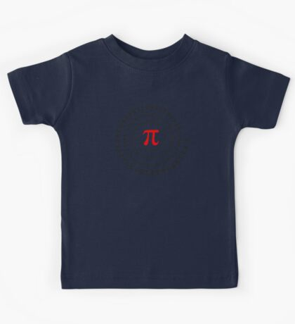 Pi, π, spiral, Science, Mathematics, Math, Irrational Number, Sequence Kids Tee
