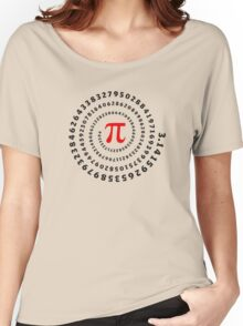 Pi, π, spiral, Science, Mathematics, Math, Irrational Number, Sequence Women's Relaxed Fit T-Shirt