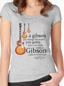 A Gibson Guitar Is Not  A Toy Women's Fitted Scoop T-Shirt