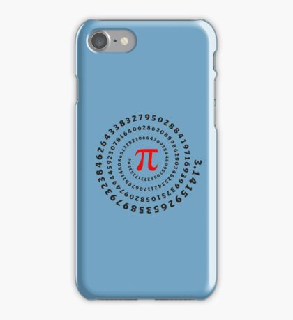 Pi, π, spiral, Science, Mathematics, Math, Irrational Number, Sequence iPhone Case/Skin