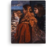 Gustave Courbet - Three Young Englishwomen by a Window 1865 , Girl with Red Hair Canvas Print