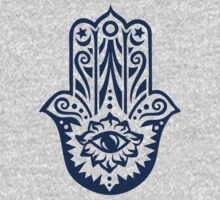 Hamsa - Hand of Fatima, protection amulet, symbol of strength and happiness One Piece - Long Sleeve
