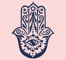 Hamsa - Hand of Fatima, protection amulet, symbol of strength and happiness Baby Tee