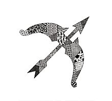 Zentangle Bow Photographic Print