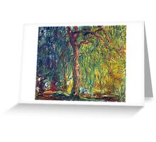 1918-Claude Monet-Weeping Willow-99 x 120 Greeting Card