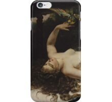 Gustave Courbet - Woman with a Parrot 1866 iPhone Case/Skin