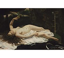 Gustave Courbet - Woman with a Parrot 1866 Photographic Print
