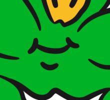Skip hop sweet little cute naughty boy frog frog child grin merry happy Sticker