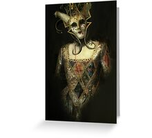 Dark Carnival, vintage mask fantasy Greeting Card