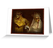 Carnival of Venice, masquerade Greeting Card
