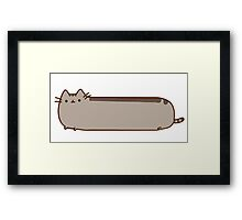 SAUSAGE FACEBOOK CAT Framed Print