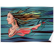 Vector wind angel Poster