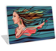 Vector wind angel Laptop Skin