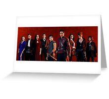 Badlands cast Greeting Card