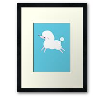 White poodle! puppy dog super cute! Framed Print