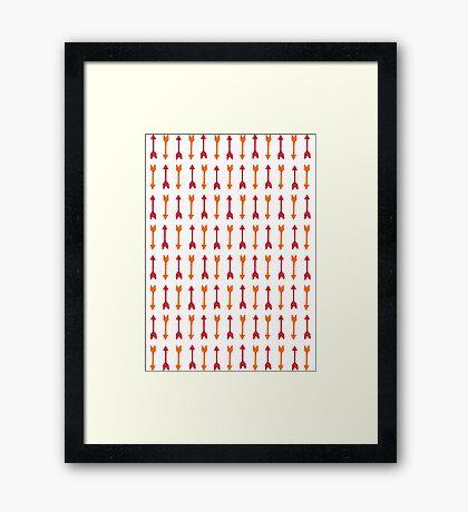 Thousand Arrows (Red & Orange)  Framed Print