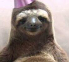 Happy birthday sloth Sticker