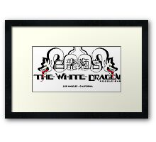 White Dragon - Noodle Bar White Cantonese Text Framed Print