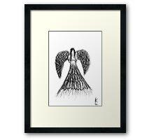 Hand Drawn Angel Framed Print