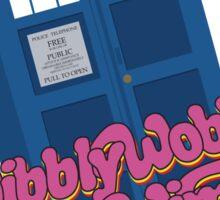 Wibbly Wobbly Timey Wimey Pop Sticker