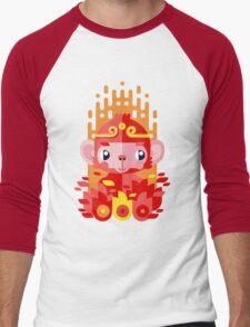 Fire Monkey Year Men's Baseball ¾ T-Shirt