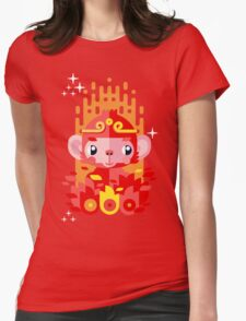 Fire Monkey Year Womens Fitted T-Shirt