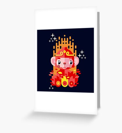 Fire Monkey Year Greeting Card