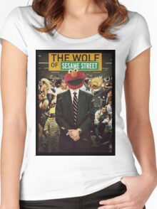 The Wolf Of Wall street-Parody Women's Fitted Scoop T-Shirt