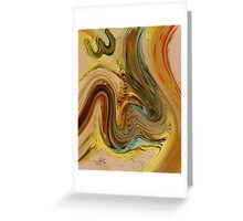 Allah Name Abstract Painting Greeting Card