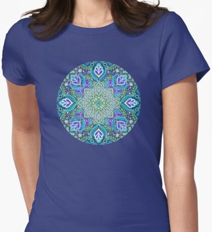 Peacock Summer Womens Fitted T-Shirt