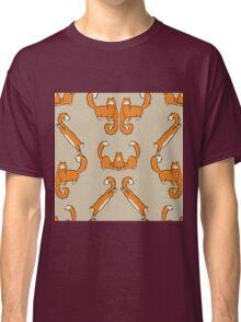 Cat damask brown  Classic T-Shirt
