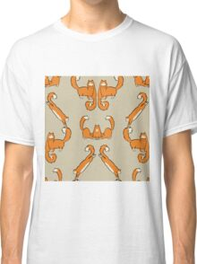 Cat damask brown  Classic T-Shirt