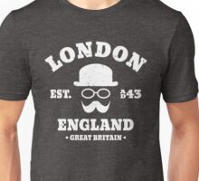 London England Hipster Bowler Hat Unisex T-Shirt