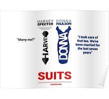 SUITS | DIALOGUE - DONNA-HARVEY Poster
