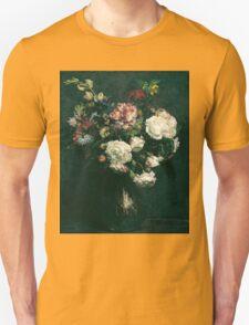 Henri Fantin-Latour - Vase of Flowers . Flowers , Bouquet of Flowers Unisex T-Shirt